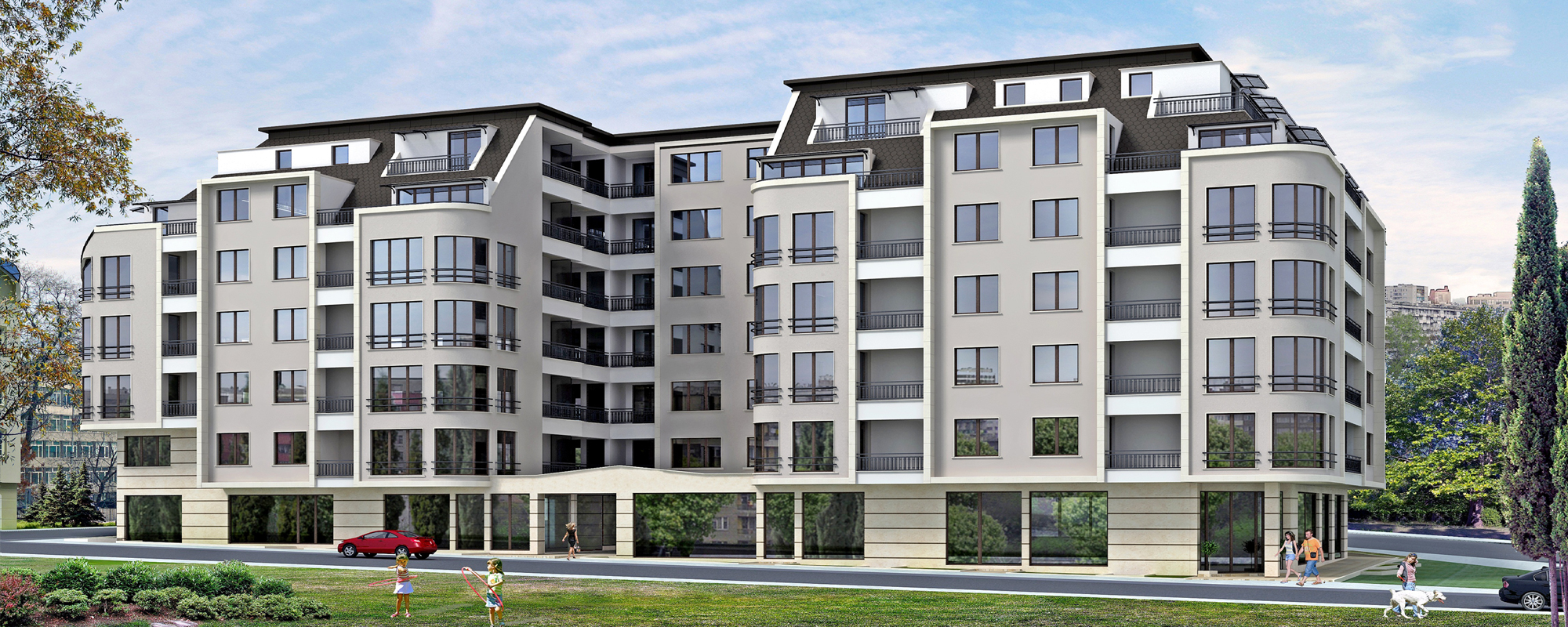 """Сграда """"DOIRAN"""" – Вашият нов дом – лукс, уют и простор сред удобствата в сърцето на Варна."""